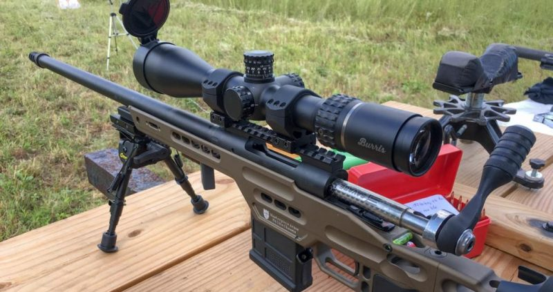 This Burris Veracity 4-20x50 scope is well matched to the Masterpiece Arms BA PCR. The rifle lists for $1,999 and the scope about $850. The combination is just under the legal price limit for PRS Production Class competition.