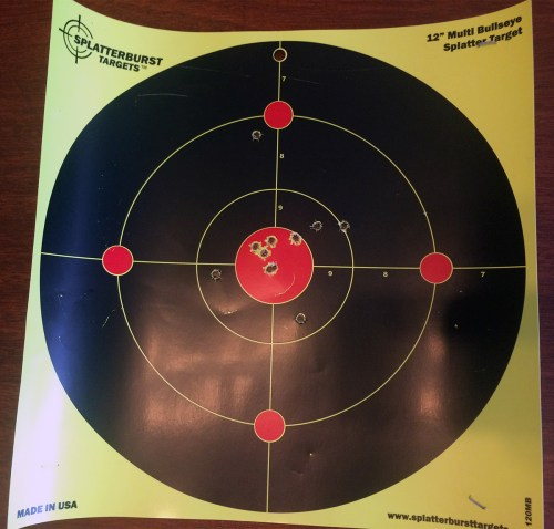 small resolution of the last five or six shots are all within a little more than one inch for iron sights i called it good