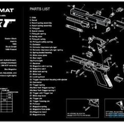 Glock 26 Parts Diagram Wireless Winch Remote Wiring Tekmat Armorers Bench Mat  17 Gen 3 For Sale