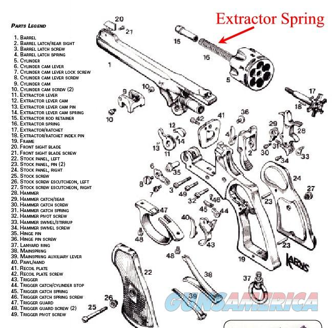 Webley Mark VI Extractor Spring (new manufactur... for sale