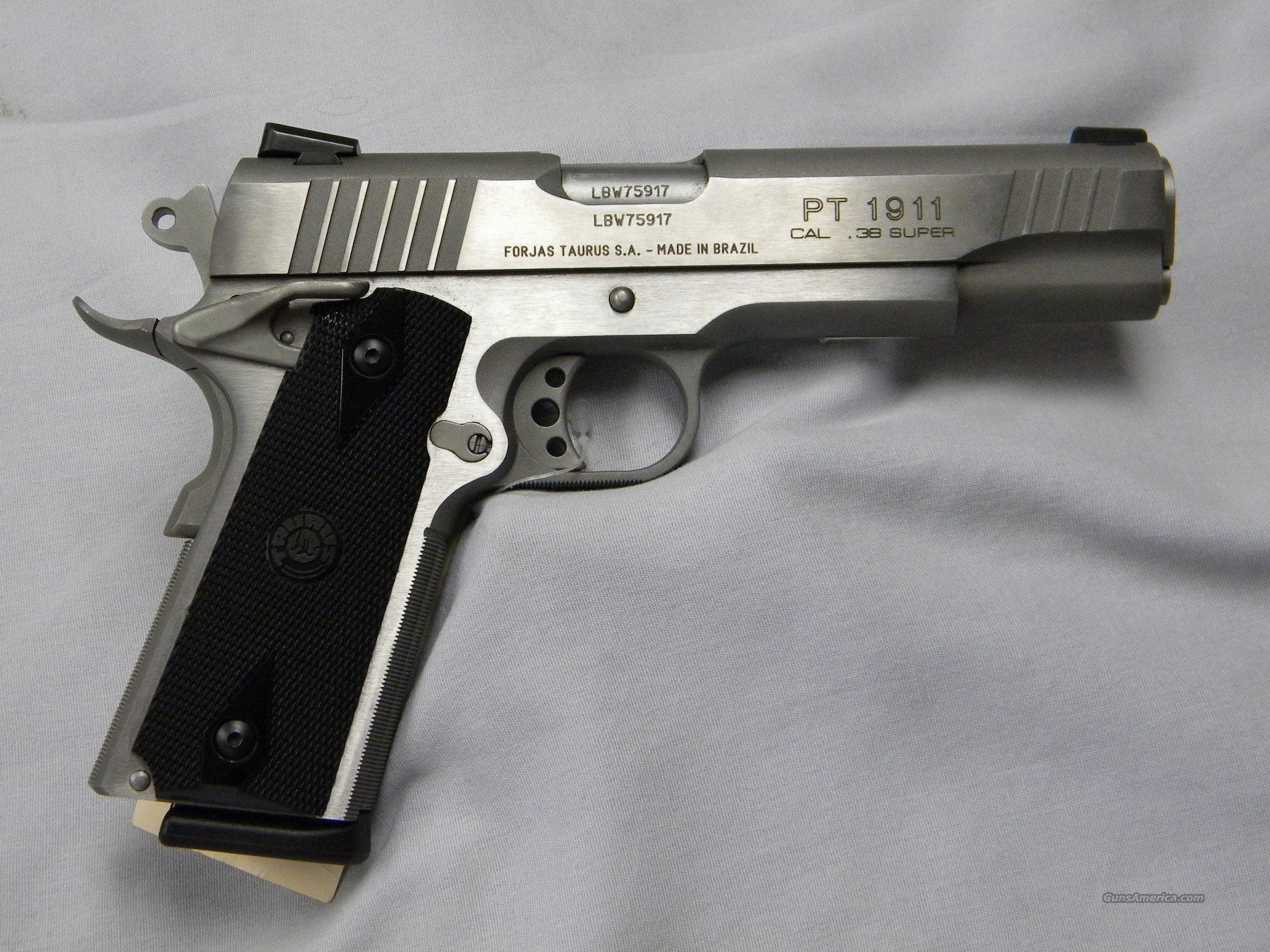 Taurus Stainless Pt Ss 38 Super For Sale