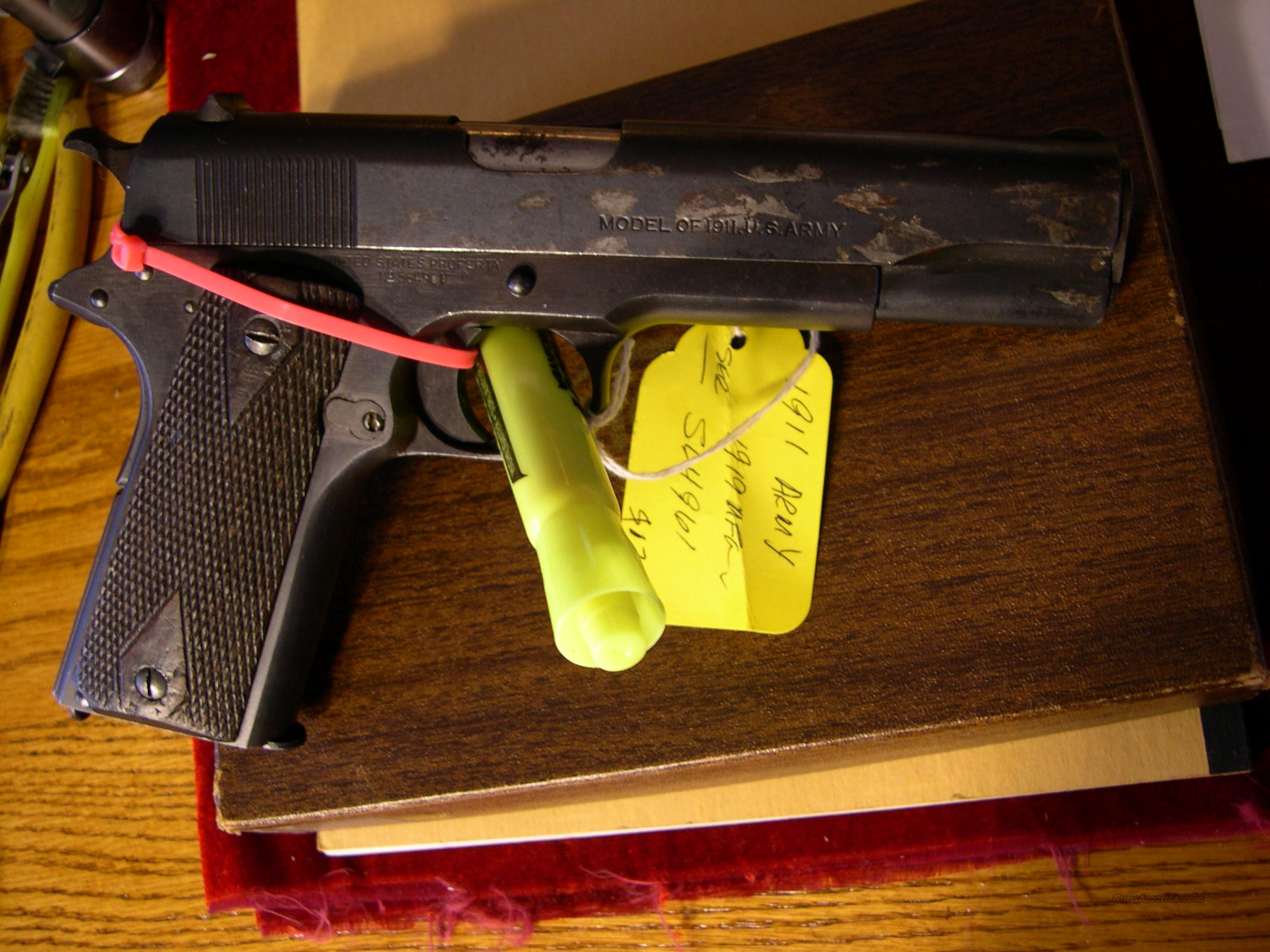 COLT 1911 US ARMY. 1919 for sale