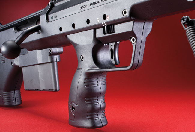 DTA manufactures nearly all of the components—from the one-piece base and ring system to the adjustable trigger—to minimize the stacking of variables that could influence the system's accuracy. Surprising to most who think they know bullpups, this bolt action is very fast to cycle and extremely adaptable.