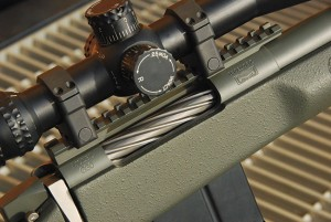 McMillan makes the G30 action that serves as the heart of the Tac-338. This beefy action is well suited to the abuse the .338 Lapua dishes out. A 20-MOA bias Picatinny rail sits atop the action for mounting whatever optic the shooter may desire.