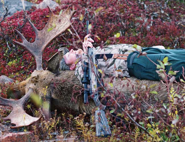 The author's largest bull fell at just under 200 paces on day six of a five-day hunt, when the hunt was technically over.  The guides went above and beyond to make this possible.
