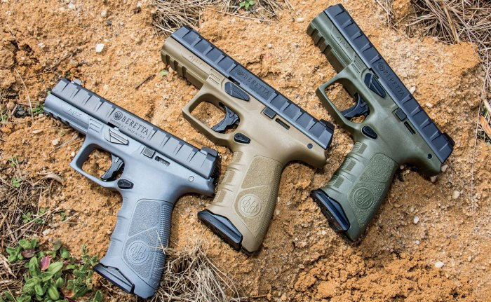 In development since 2012, the APX is Beretta's first full-sized striker pistol, offering modularity to include caliber and color.