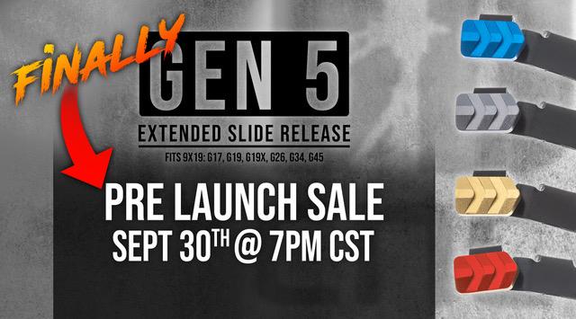 Tyrant-Designs-Glock-Gen-5 Extended Slide Release presale