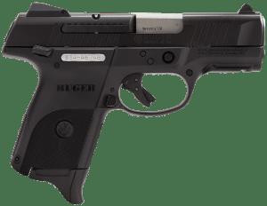 """Ruger 3314 SR9C Compact Double 9mm Luger 3.4"""" 17+1 Black Polymer Grip Black 736676033140"""