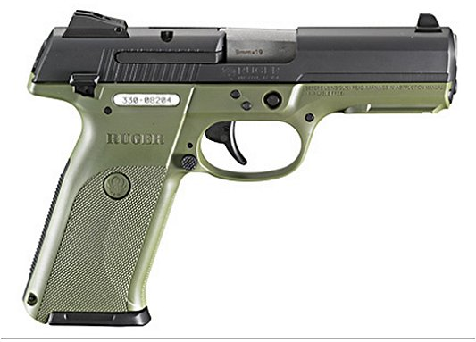 Ruger SR9 Pistol with OD Green Frame