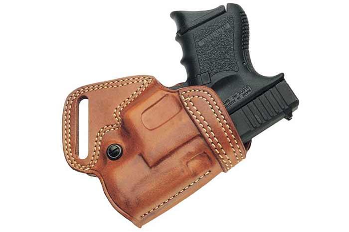 Brown Leather Desantis Companion Holster Glock 19 inside or outside Left Hand