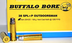 Buffalo Bore 38 Special Outdoorsman Ammunition