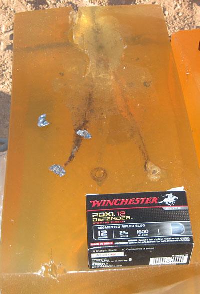 Winchester PDX1 12 gauge jello