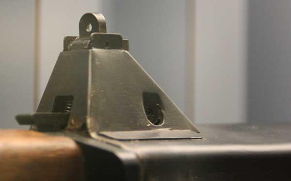 rear sight on a Winchester Salvo rifle