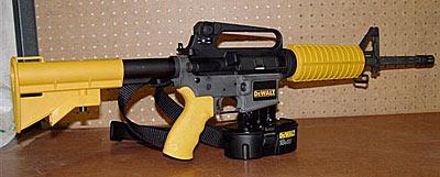 DeWalt AR-15 Nail Gun: Great Gag!