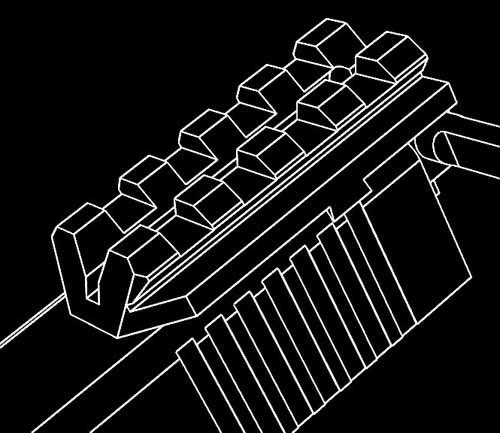 Glock Rear Sight Rail