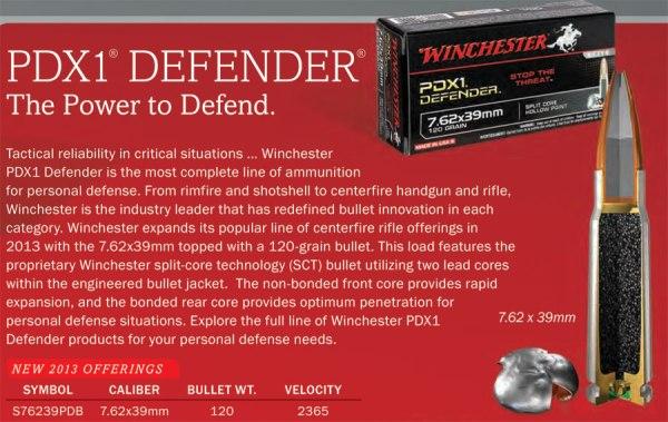 Winchester 7.62x39 PDX1 Defender Ammunition
