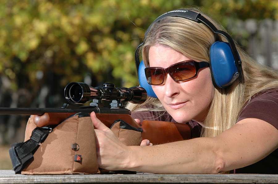 Woman Rifle Bench