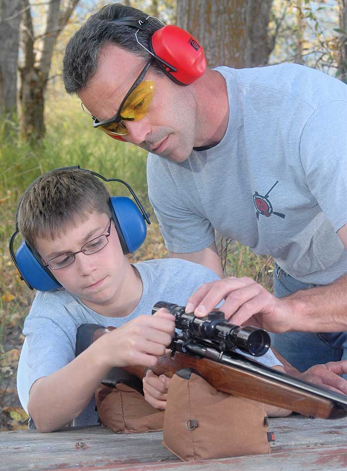father son rifle