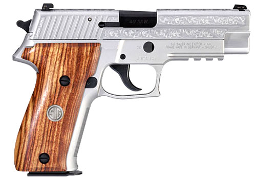 SIG P226 Engraved Stainless