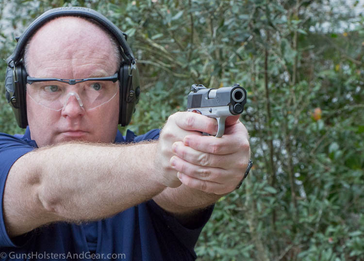 on the range with the STI 1911