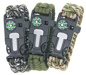 cool paracord survival bracelet