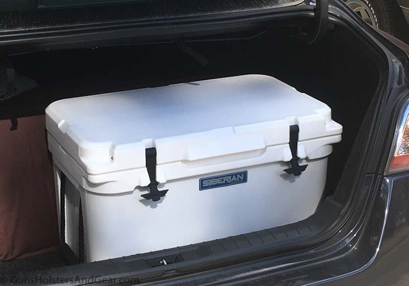 testing the Siberian Cooler on a car trip