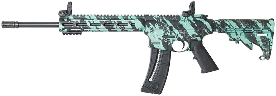 Smith & Wesson MP15-22 sport robin's egg blue platinum