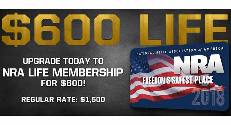 NRA Life Memberships Only $600 - Limited Time