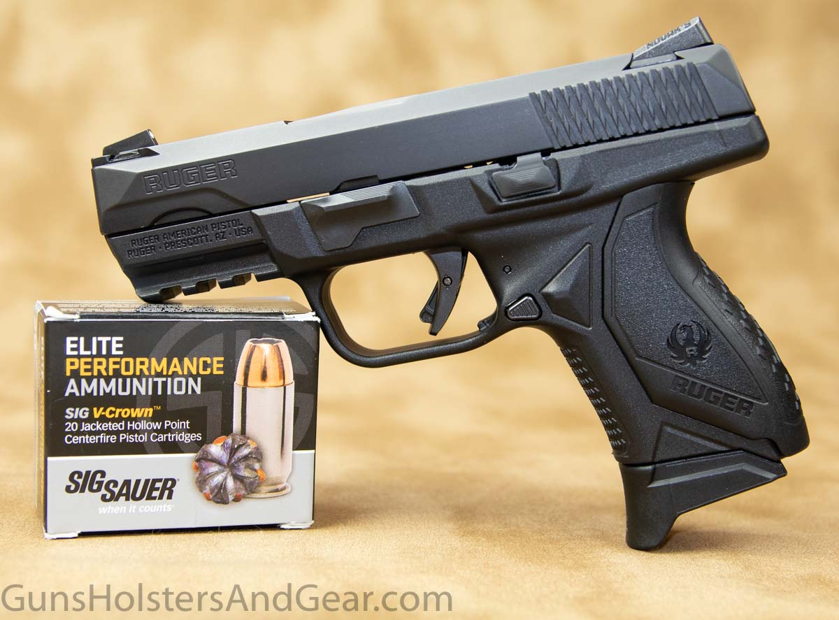 Ruger American Compact with 9mm ammunition