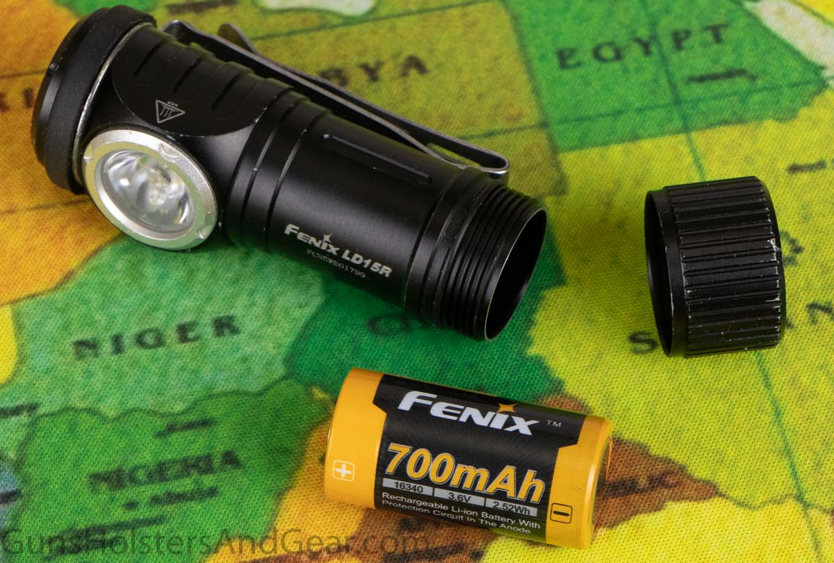 Fenix LD15R Flashlight with Micro USB Rechargeable 16340 Battery