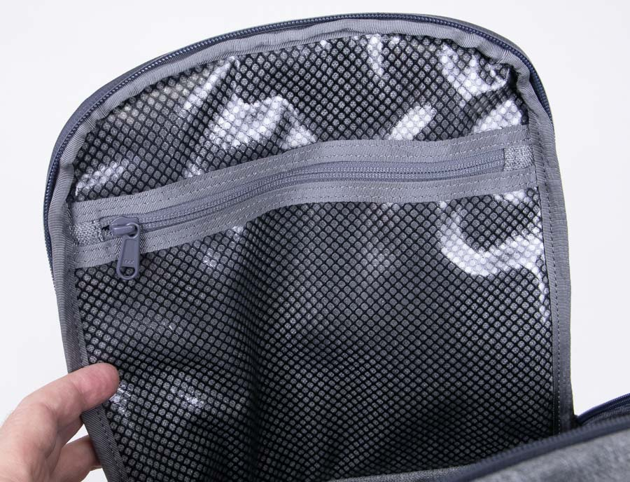Clear Water Resistant Compartment on ESS Rifle Backpack