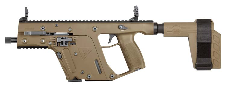 KRISS Vector SDP-SB Pistol in FDE