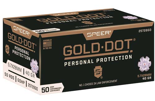 Speer Gold Dot 57x28 Ammo