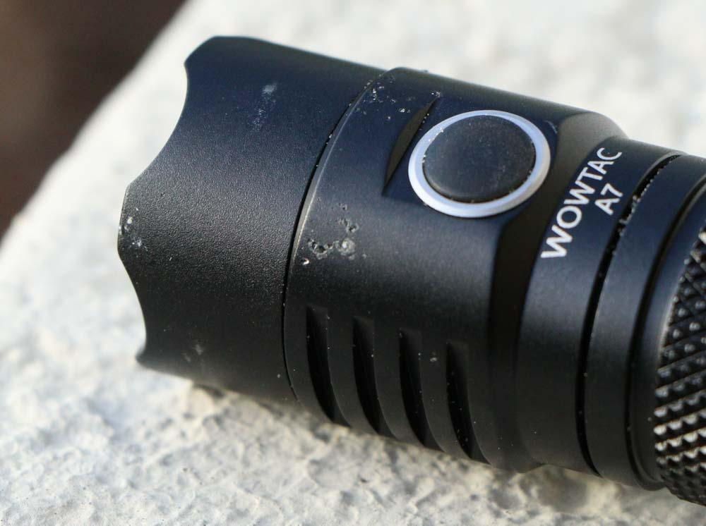 Wowtac A7 Flashlight drop test damage