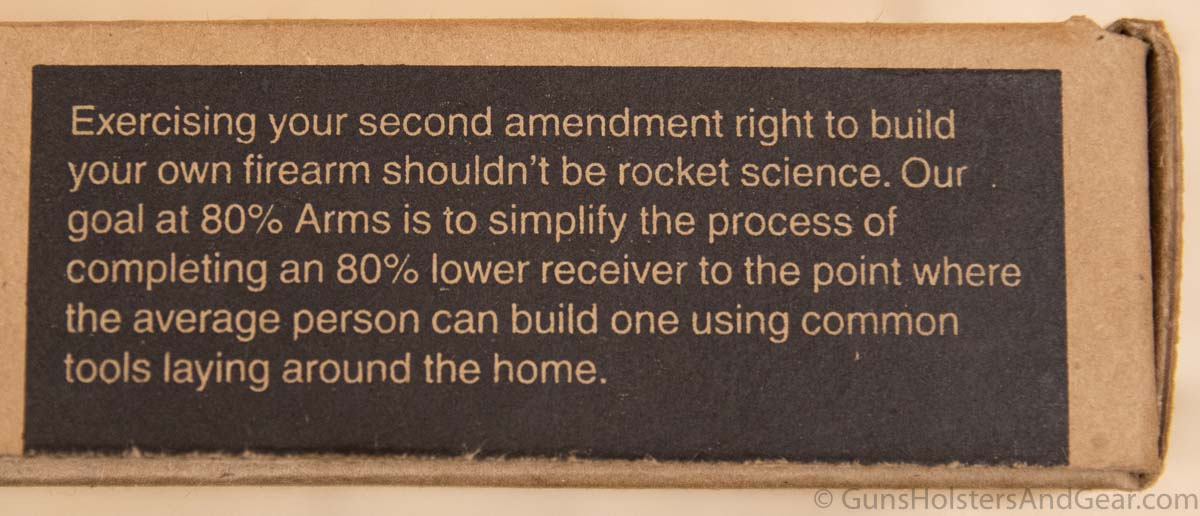 80 Percent Arms Mission Statement