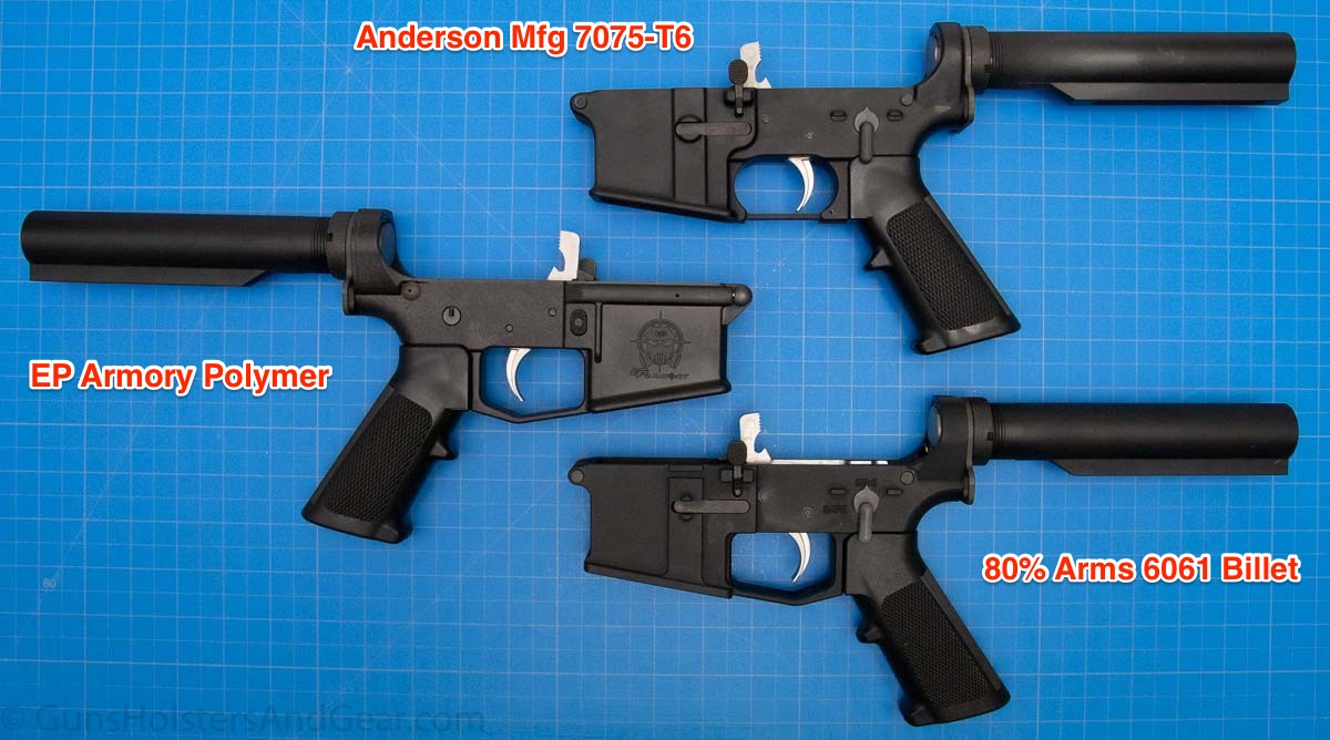 Examples of Lowers Milled with 80 PErcent Arms Jig