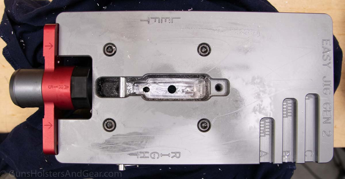 Milling the fire control pocket of an AR lower