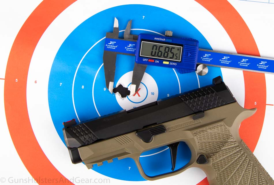Accuracy Test of Wilson Combat WCP320 Carry with 135 grain Load