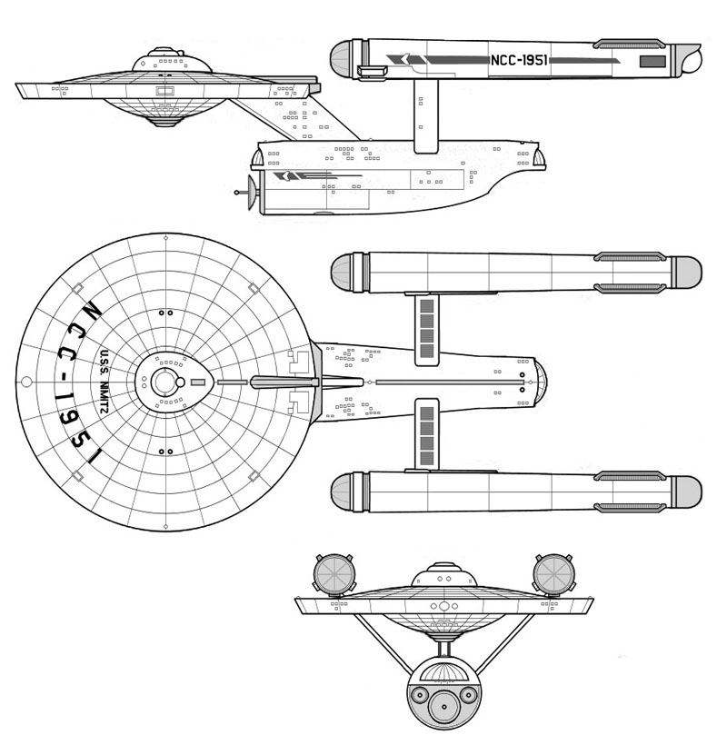USS Nimitz CVS Page One
