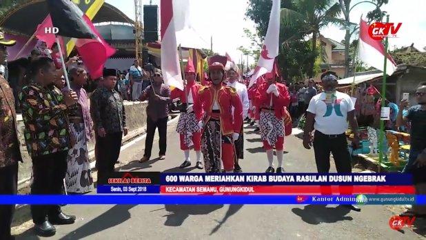 600 Warga Meriahkan Kirab Budaya Rasulan Dusun Ngebrak Semanu