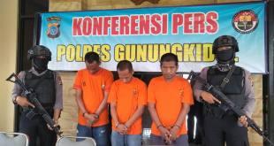 Gb. Polres Gunungkidul Adakan Press Conference Tentang Pencurian Komponen Alat Berat di Gunungkidul