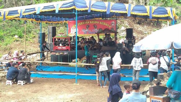 Gb. Seni Jathilan Krido Budoyo saat Pentas di Dusun Pakel Tepus