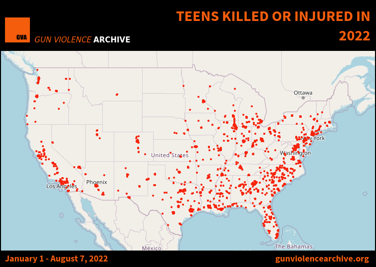 Teens Killed or Injured in 2017