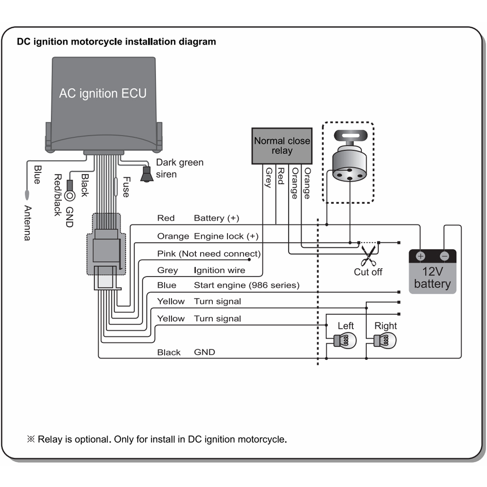 installation wiring diagram of motorcycle alarm system 2004 nissan altima fuse box steelmate 886t 1 way ala (end 12/2/2018 12:15 pm)