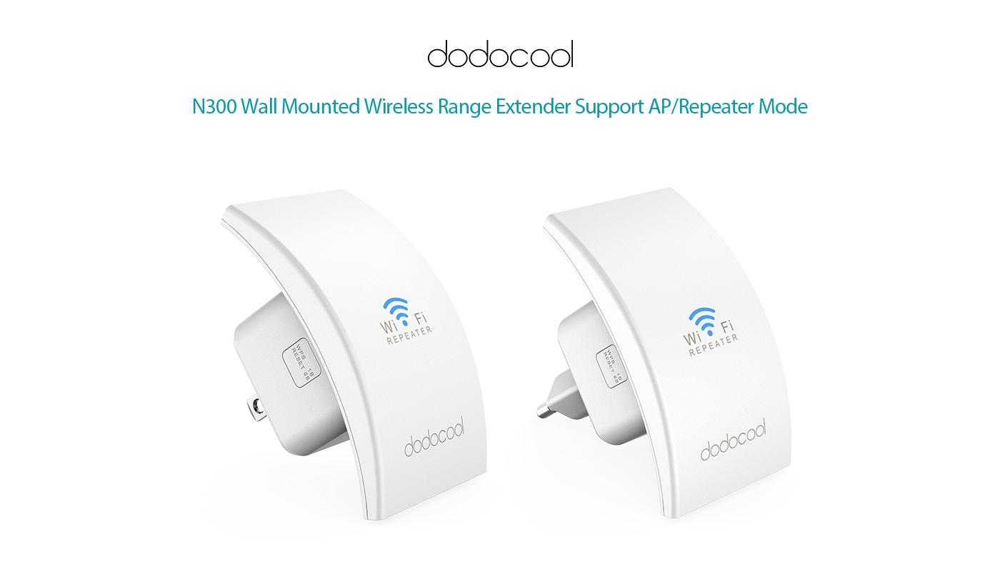 dodocool N300 Wall Mounted Wireless Range Extender Signal