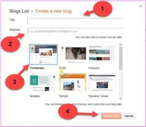 create new blog