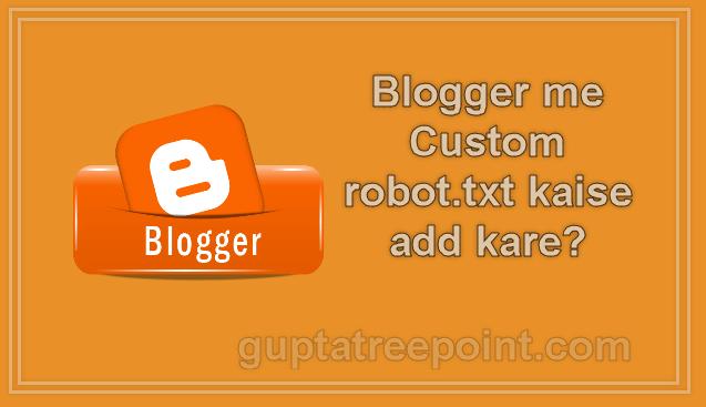 custom robot txt kaise add kare