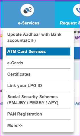 ATM card service