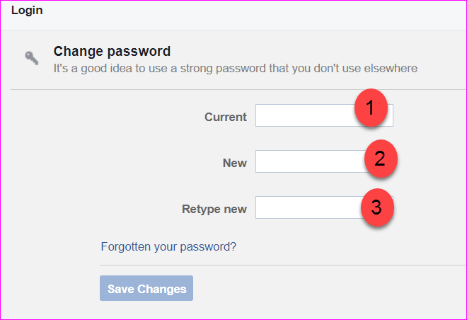 password changement
