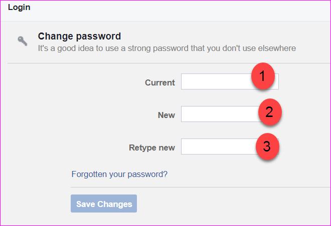 password changement